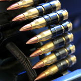 Machine gun bullet clip royalty free stock photography