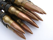 Machine Gun Bullets Stock Photo