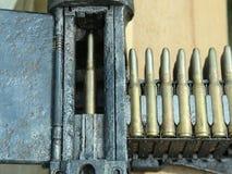 Machine-gun bullets Stock Image