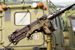 Machine Gun Detail Stock Photo