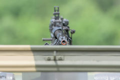 Machine Gun detail close up Royalty Free Stock Photography