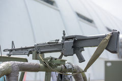 Machine Gun detail close up Stock Photo