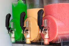 The machine gun doing the different frozen drinks Royalty Free Stock Images