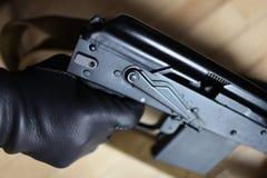 Machine gun finger on trigger Royalty Free Stock Photos