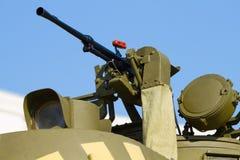 Machine gun and headlight Royalty Free Stock Image