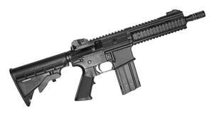 Machine gun. Isolated on white Stock Photos