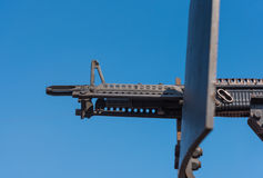 machine gun on jeep Royalty Free Stock Images