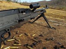 It is machine gun. Machine gun 7.62mm Used to maneuver Royalty Free Stock Image