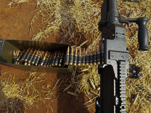 It is machine gun. Machine gun 7.62mm Used to maneuver Stock Images