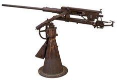 Machine gun. Old rusty machine gun, isolated on white Royalty Free Stock Photography