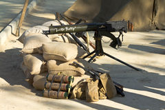 Machine Gun and other weapons Royalty Free Stock Photos