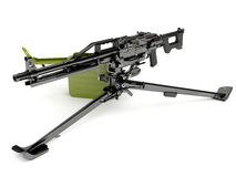 Machine gun Peheneg with a tripod mount Stock Image