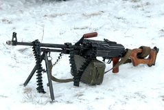 Machine gun PKM. Stock Photos