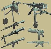 Machine Gun Selection. stock photos