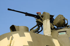 Machine gun on the tank Royalty Free Stock Photography