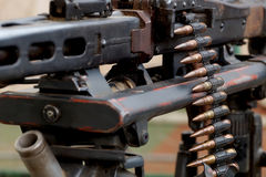 Machine-gun tape with bullets Royalty Free Stock Image