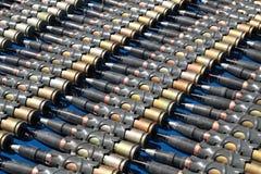 Machine-gun tapes stock image