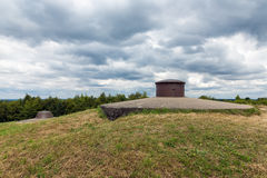 Machine gun turret at Fort Douaumont near Verdun at WW1 battlefield. Observation post and machine gun turret at Fort Douaumont near Verdun. Battlefield of First royalty free stock photography