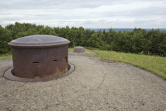 Machine gun turret and observation cupola on Fort Douaumont. Gvp0121 stock photos