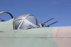 Machine Gun Turret. Upper gun turret on a World War II Handley Page Hampton bomber stock photography