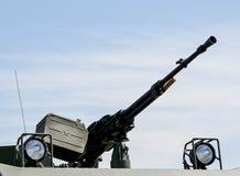 Machine gun on war car Royalty Free Stock Photos