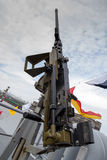 Machine gun on warship Royalty Free Stock Image