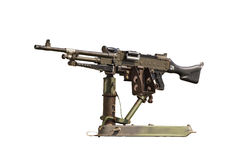 Machine Gun. On white isolate Stock Photos