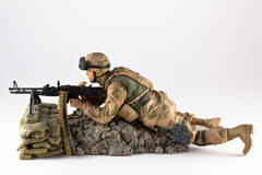 Machine gunner. A profile of an american machine gunner's action figure Stock Photography
