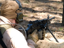 Machine Gunner royalty free stock photo