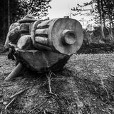 Machine Gunner. The Rozelle Remembrance Woodland in Ayr, Scotland. The gardens were created as part of the World War 1 centenary commemorations 2014-18. The Royalty Free Stock Photos