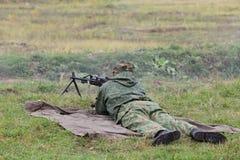 Machine gunner Stock Images