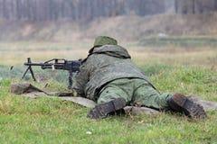 Machine gunner Stock Photography