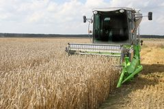 Machine harvesting Stock Photography