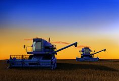 Machine for harvesting Stock Photo