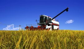 The machine for harvesting Stock Images