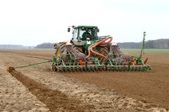Machine harvesting Stock Images