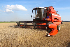 Machine harvesting Royalty Free Stock Images