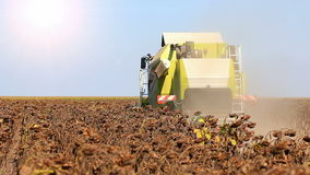 Machine harvesting stock footage