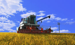 Machine for harvesting Royalty Free Stock Image