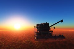 Machine for harvesting Royalty Free Stock Photo