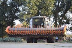 Machine for Harvesting Sunflower. stock photos
