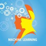Machine het Leren Bedrijfstechnologieconcept royalty-vrije illustratie