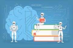 Machine het leren concept Kunstmatige intelligentie die nieuw algoritme leren vector illustratie