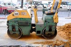 Machine het werken van asfaltwegenbouw Royalty-vrije Stock Foto