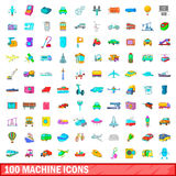 100 machine icons set, cartoon style. 100 machine icons set in cartoon style for any design vector illustration Stock Photo