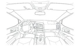 Machine inside. Interior of the vehicle. Stock Photography