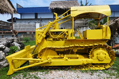 Machine in Kinta Tin Mining Museum in Kampar, Malaysia. KAMPAR, MALAYSIA- 28 DEC, 2016: Machine in Kinta Tin Mining Museum in Kampar, Malaysia. The museum is royalty free stock photos