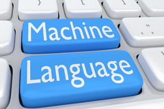 Machine Language concept Royalty Free Stock Photo