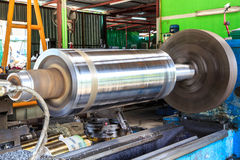 Machine lathe. Lathe Turning the metal industry to produce and crafts Stock Photo