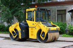 Machine for laying pavement stock photo